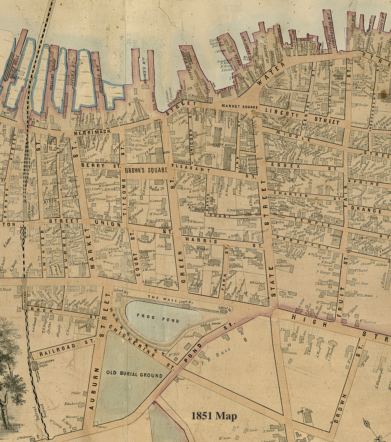 1851 Map Newburyport MA