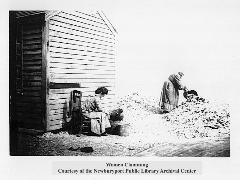 Women Clamming, Clam Shacks, Newburyport MA