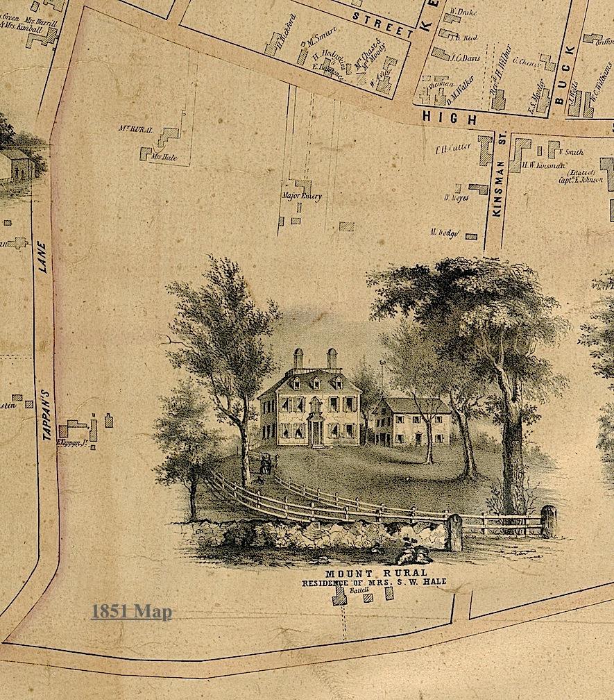 1851 Map Mt. Rural Newburyport MA