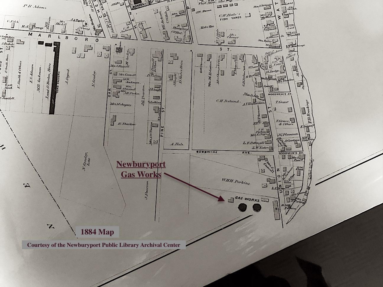 Newburyport MA Gas Works Map