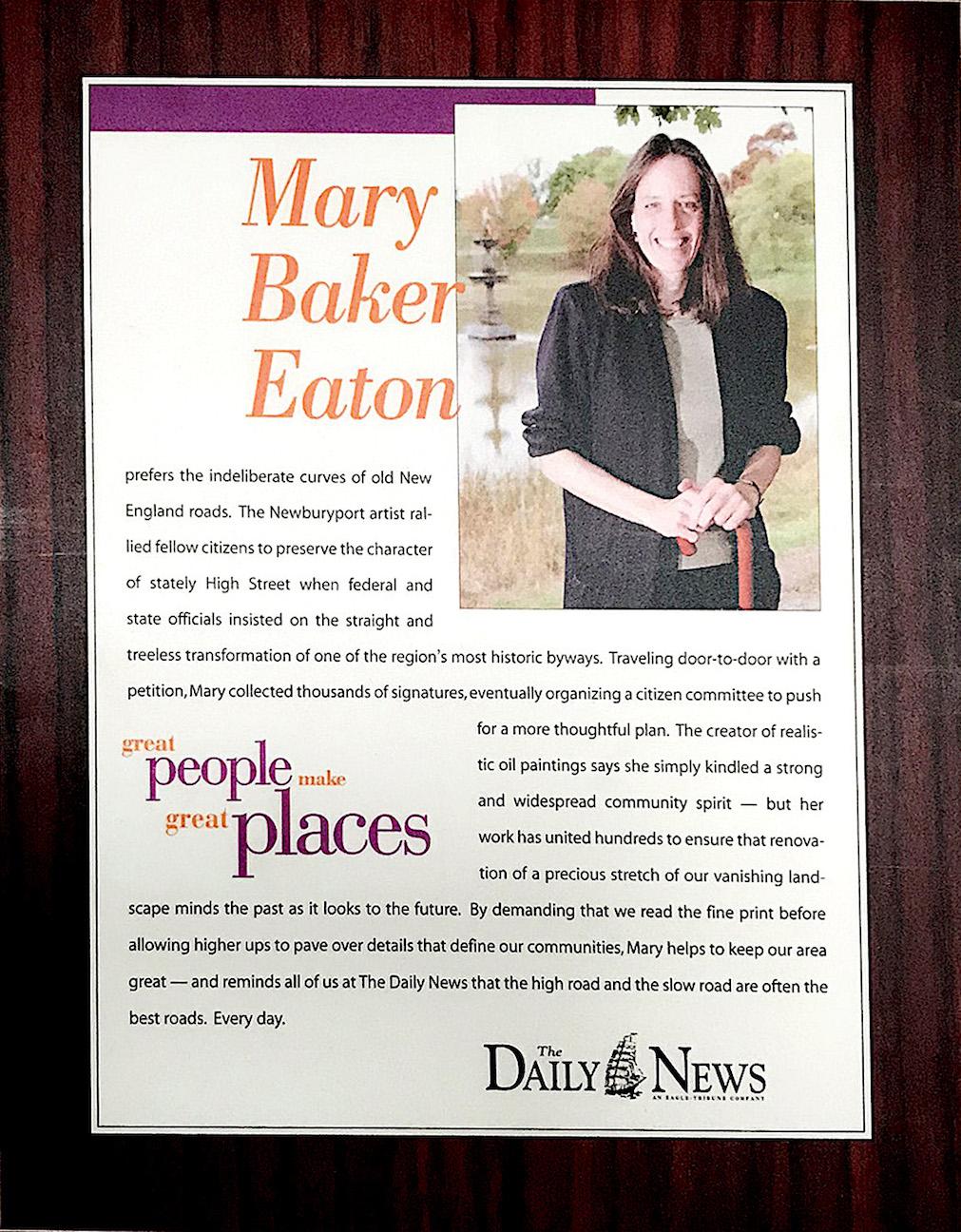 Mary Baker Eaton, Newburyport MA