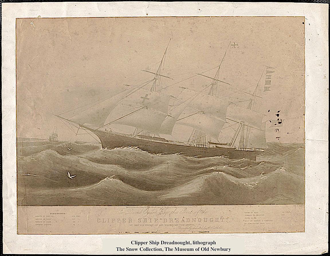 Clipper Ship Dreadnought Newburyport MA