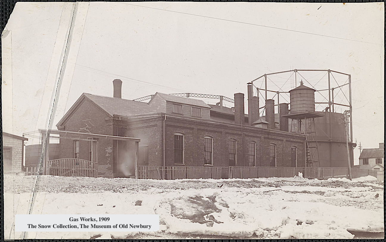 Gas Works 1909 Newburyport MA