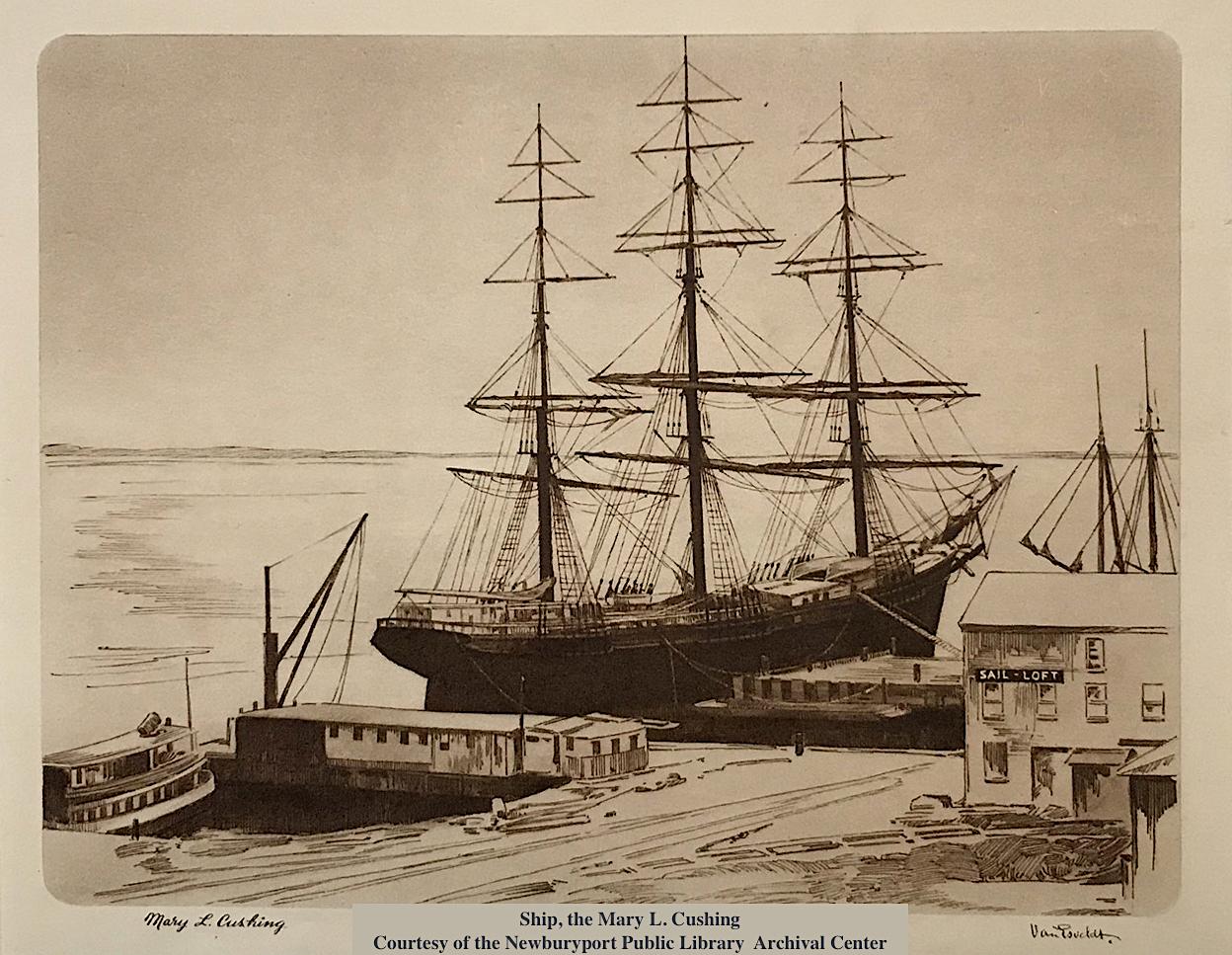 Ship the Mary L Cushing Newburyport MA