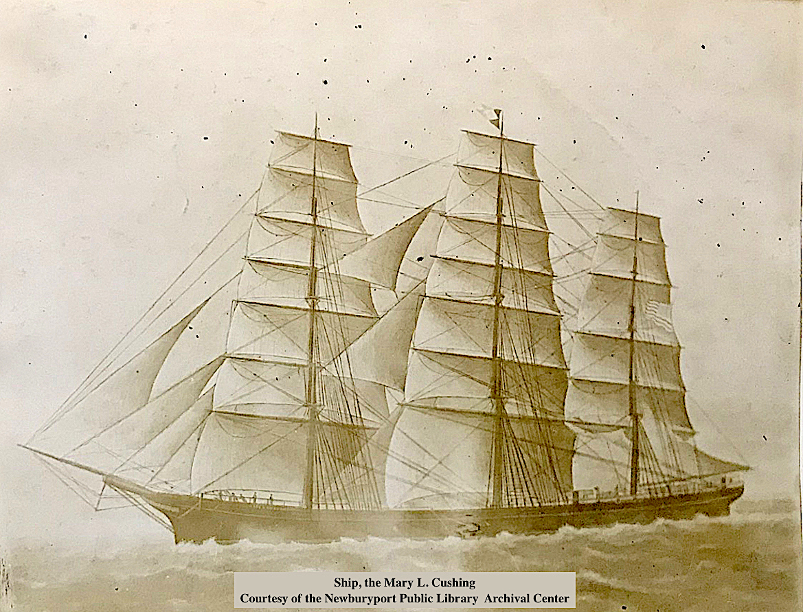 The Mary L Cushing Ship Newburyport MA
