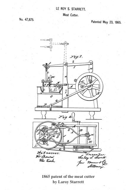 Laroy Starrett Meat cutter patent Newburyport MA