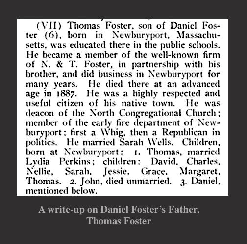 Thomas Foster Write-Up Newburyport MA