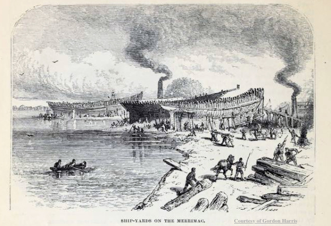 Shipyards on the Merrimac Newburyport MA