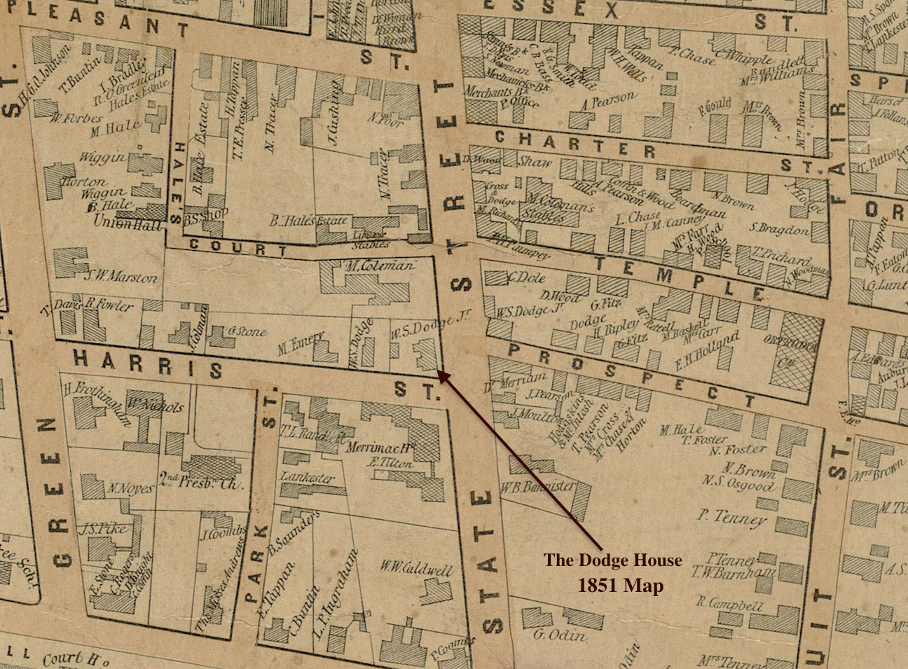 The Doge House 1851 Map Newburyport MA