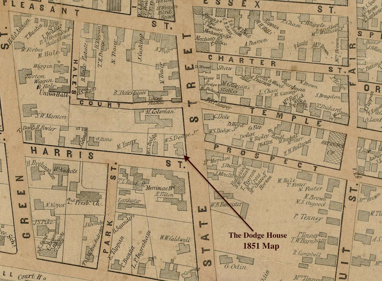 The Doge House 1851 Map Newburyport MA