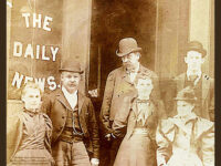 Detail of The Daily News Office 1900 Newburyport MA