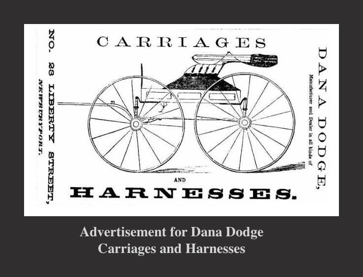 Advertisement for Dana Doge Carriages and Harnesses Newburyport MANewburyport MA