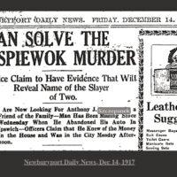 MurderHeadlineDeceber1917News