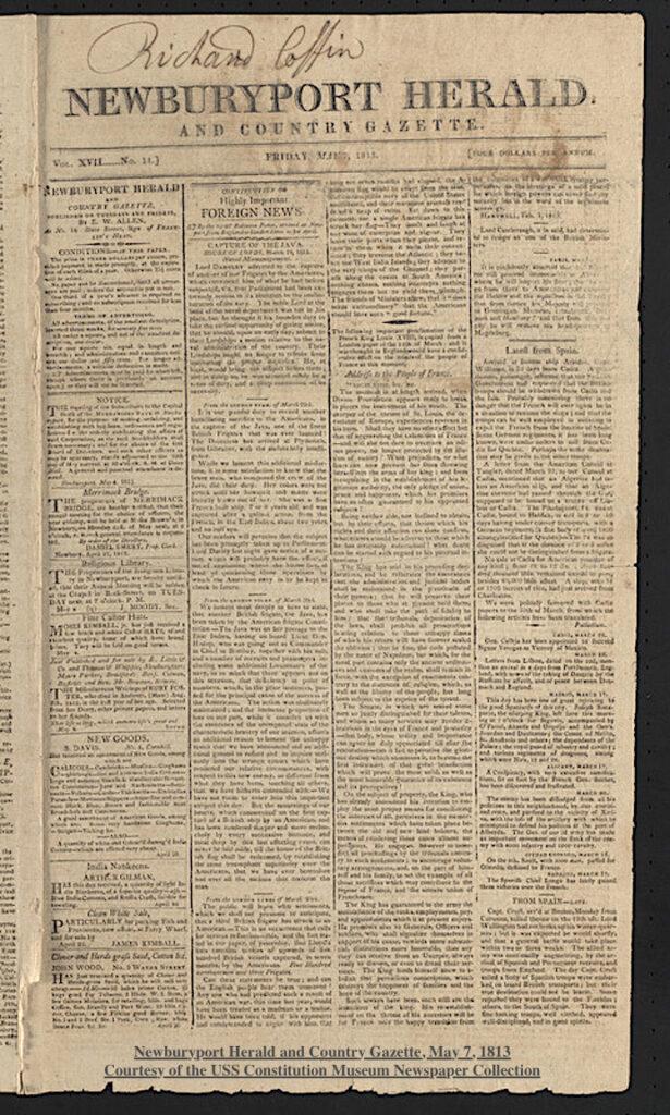 Newburyport Herald and Country Gazette 1813 Newburyport MA