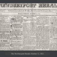 The Newburyport Herald 1821 Newburyport MA