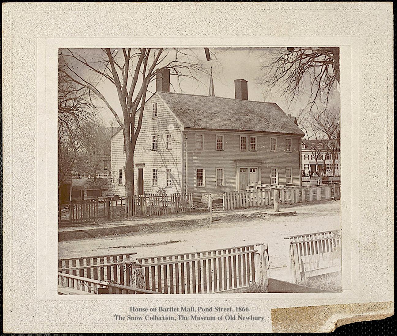 House on Bartlet Mall Pond Street 1866 Newburyport MA