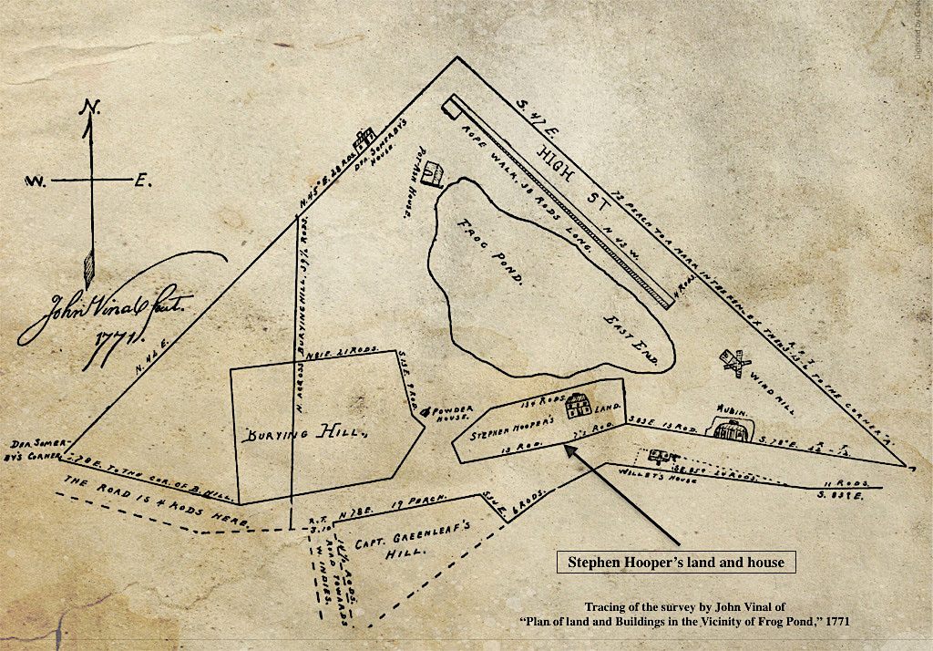 Stephen Hooper's land and house 1771 Newburyport MA