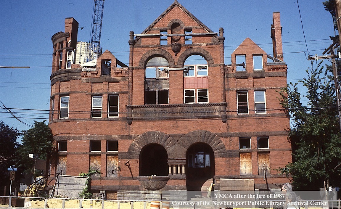 YMCA after the fire of 1987 Newburyport MA