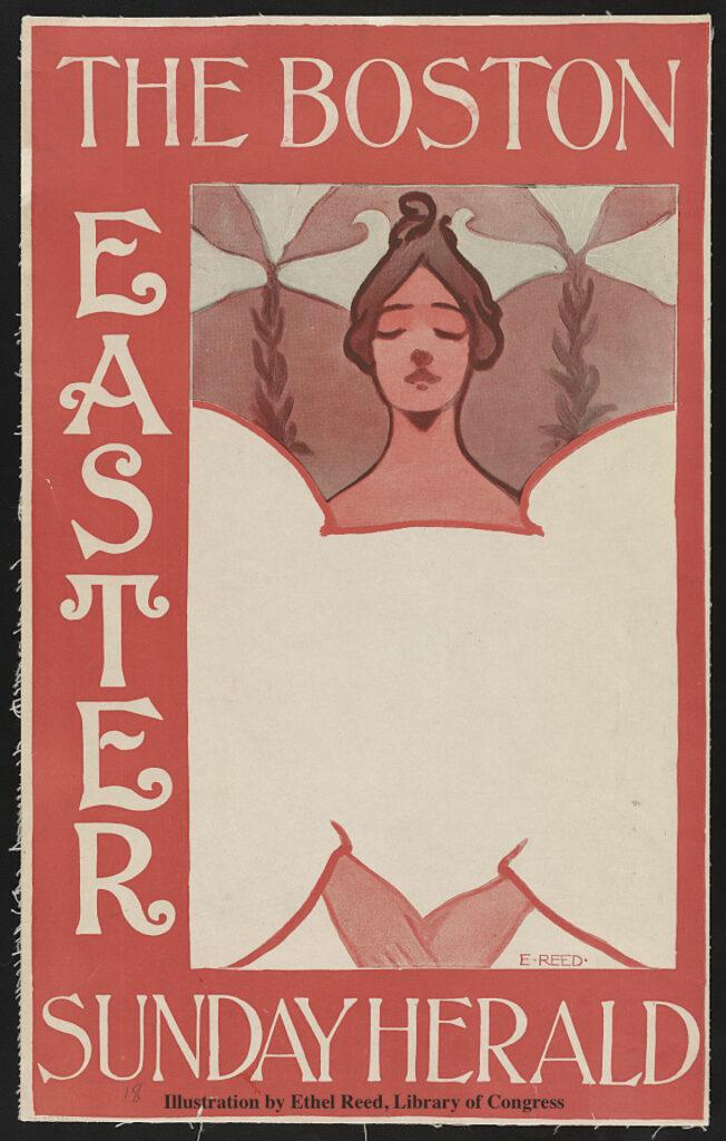 Ethel Reed Illustration 1890 Newburyport MA