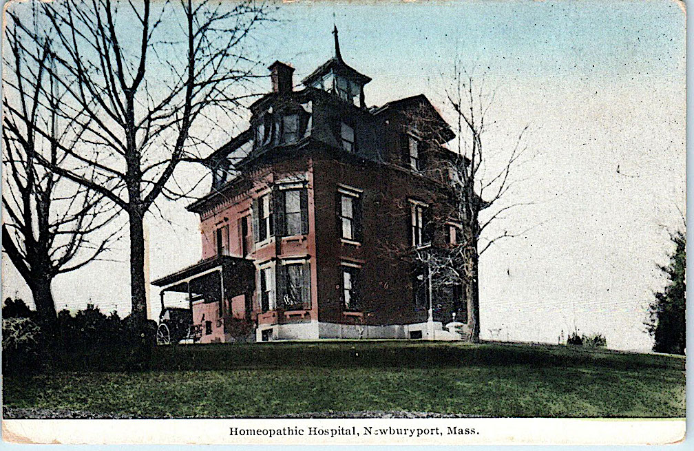 Homeopathic Hospital Postcard Newburyport MA