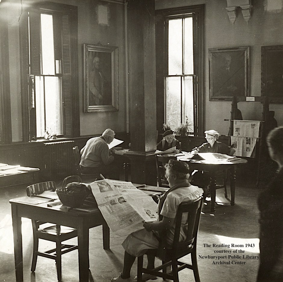 Reading Room 1943 Newburyport Public Library Newburyport MA