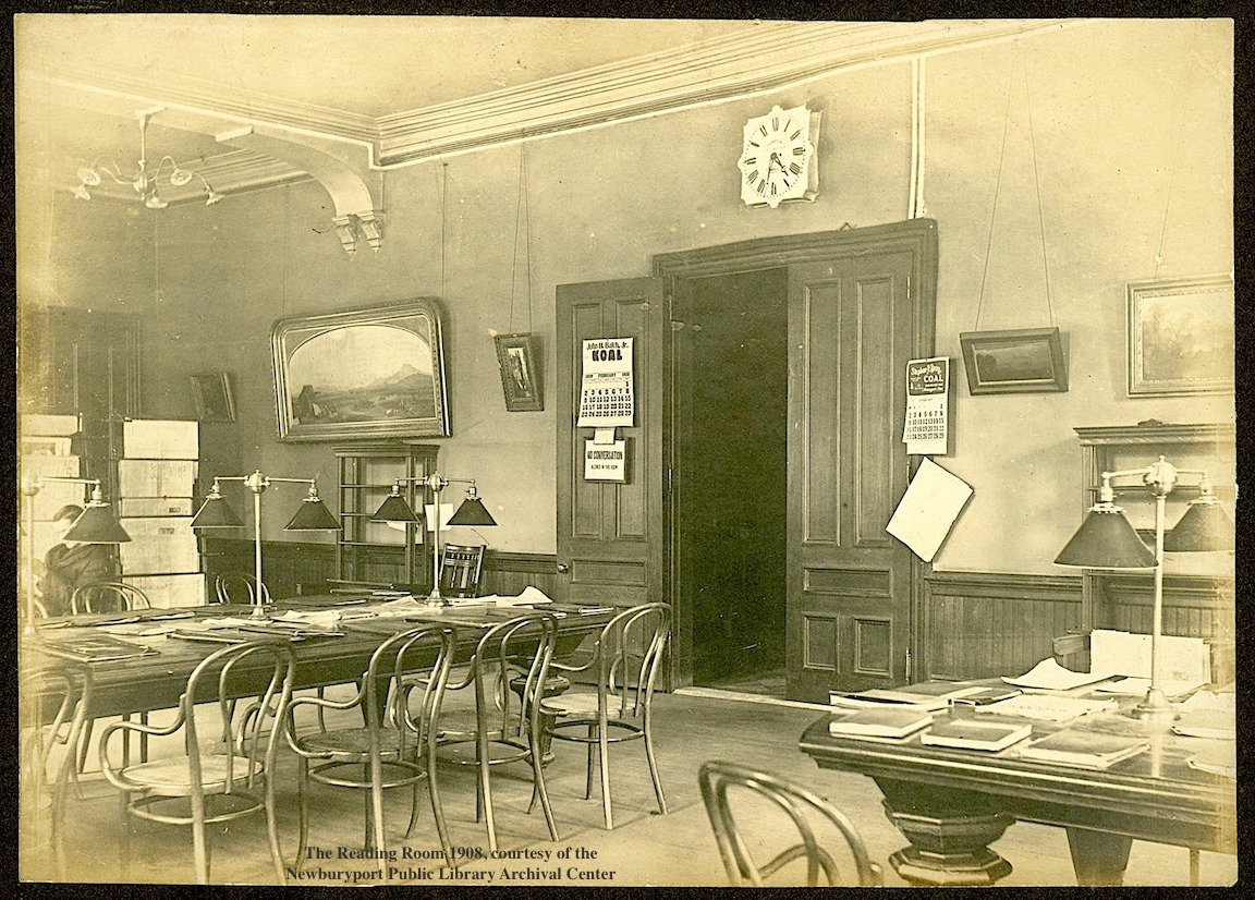 Reading Room 1908 Newburyport Public Library Newburyport MA
