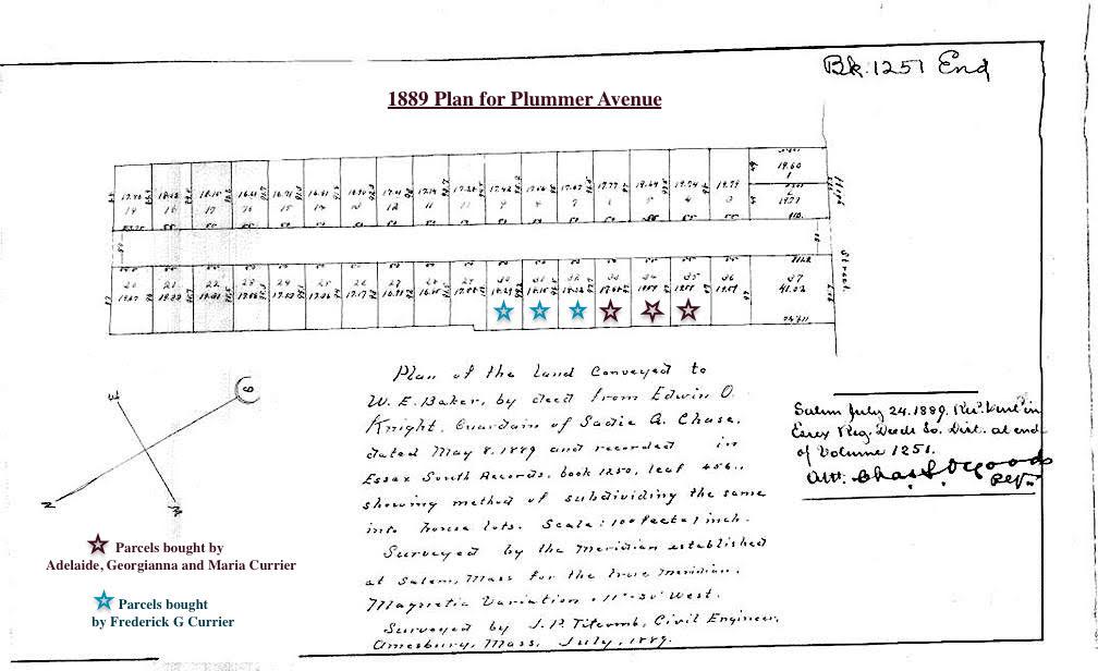 Plan of Plummer Avenue, Newburyport in 1889