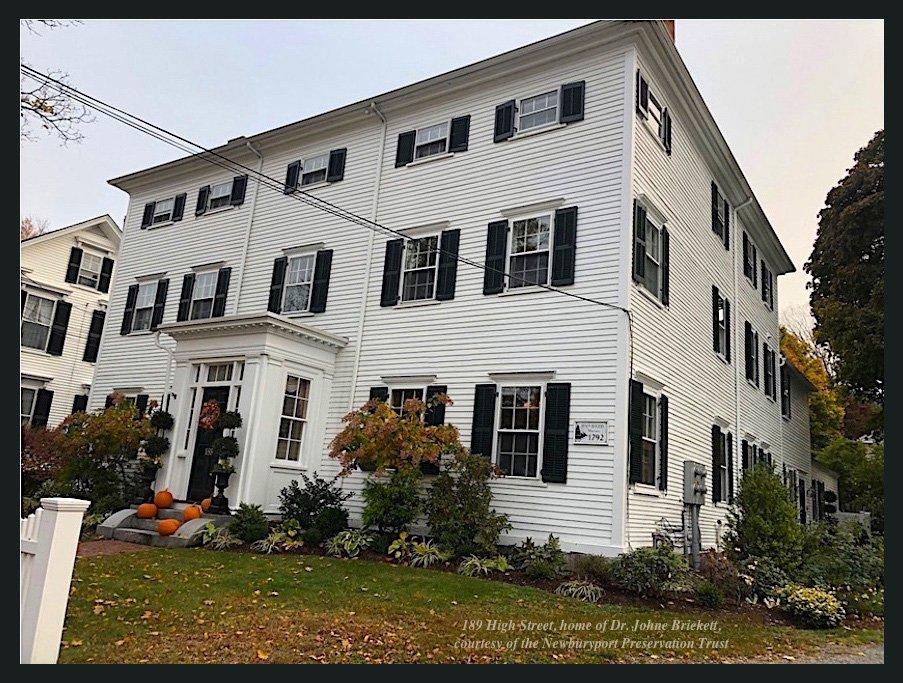 189 High Street, home of Dr. Johne Brickett