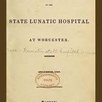 1844 Annual Report of the State Lunatic Hospital at Worcester