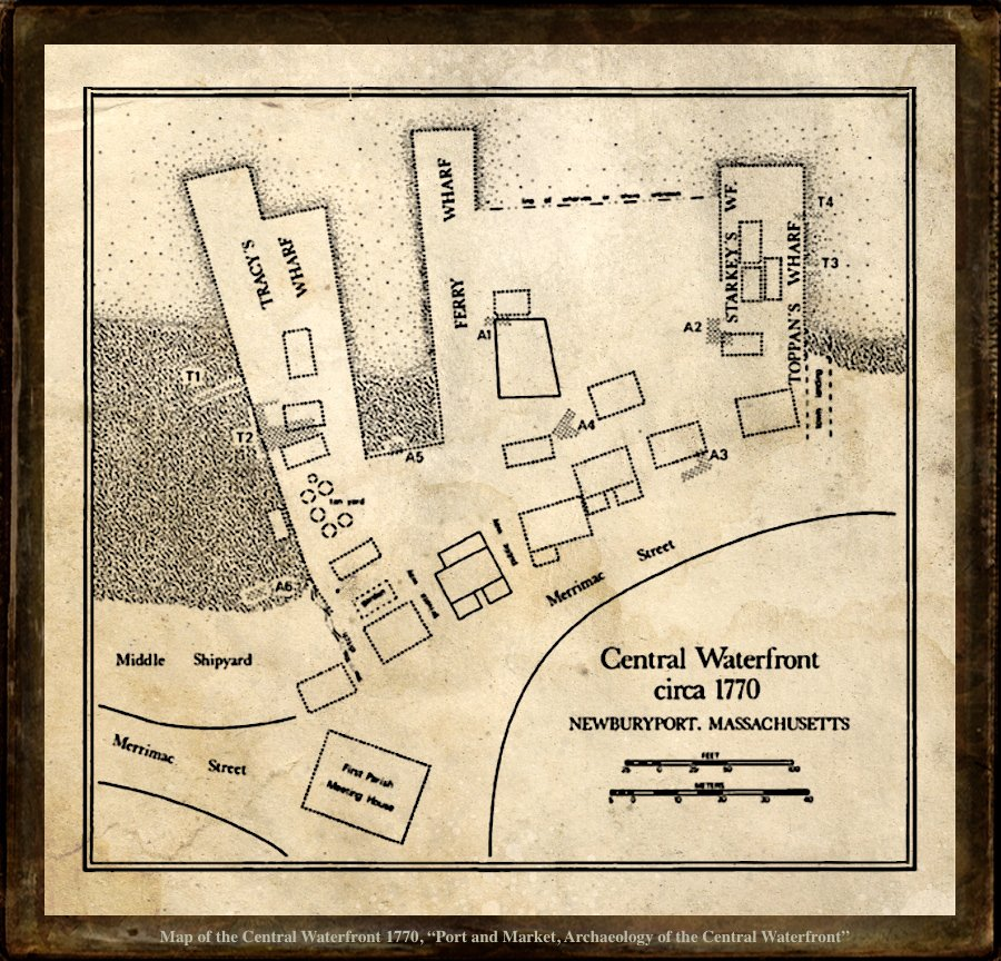 Newburyport, Map of the Central Waterfront 1770