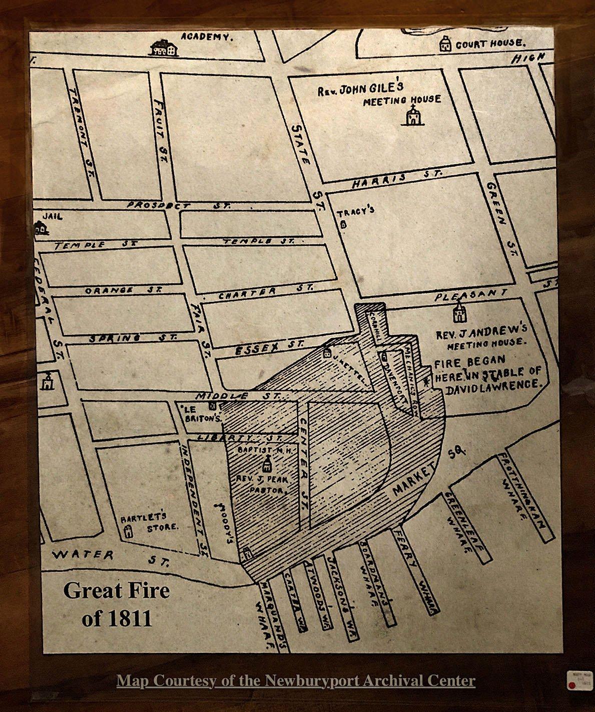 Newburyport, Map of the Fire of 1811