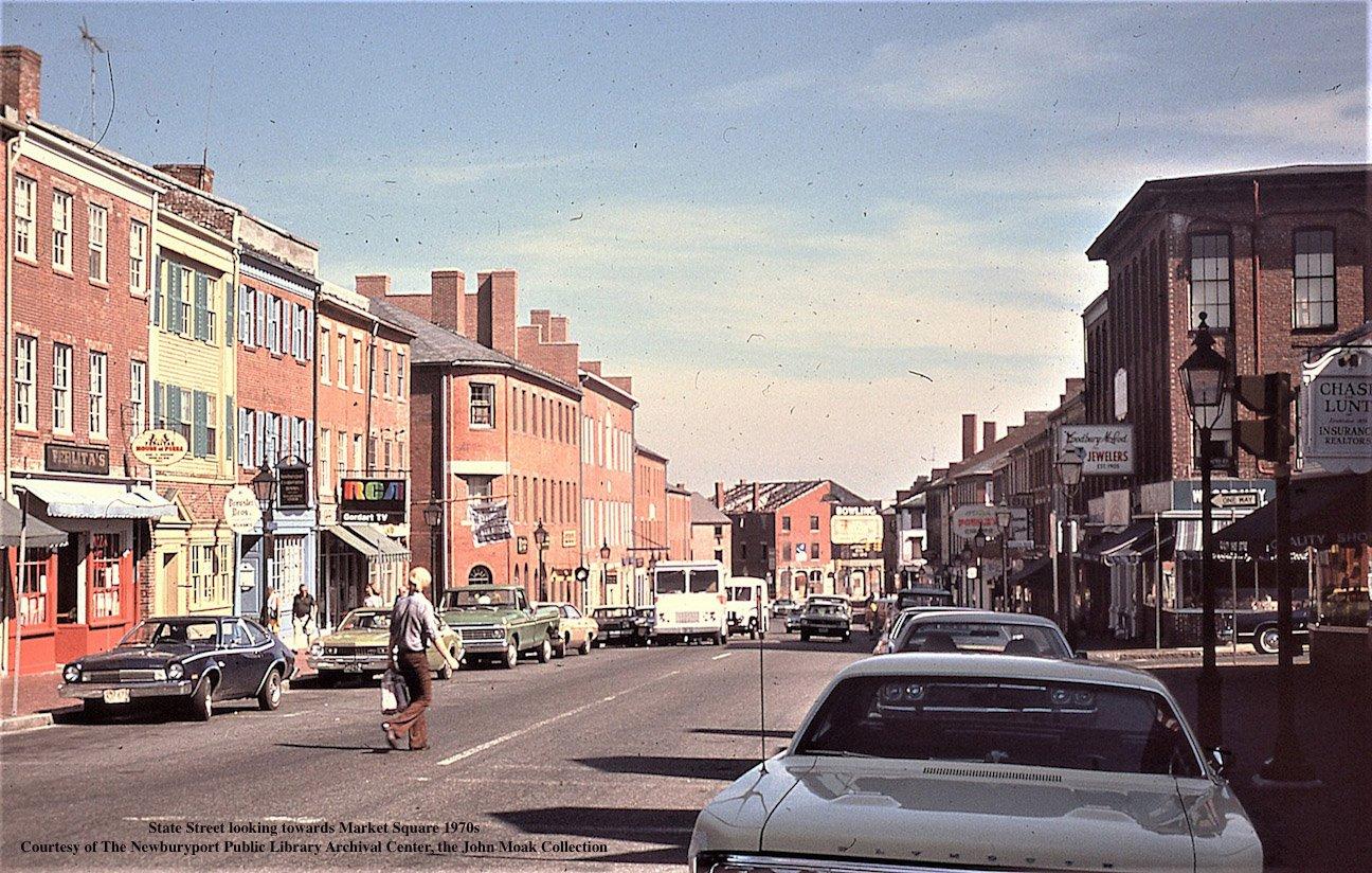 Downtown Newburyport, State Street, 1970s