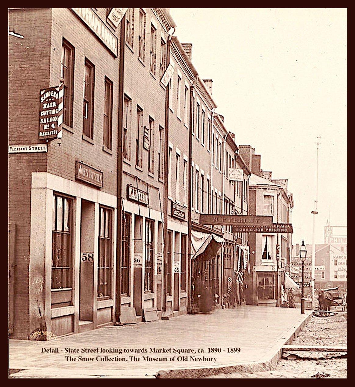 Newburyport, State Street looking towards Market Square, 1890 - 1899