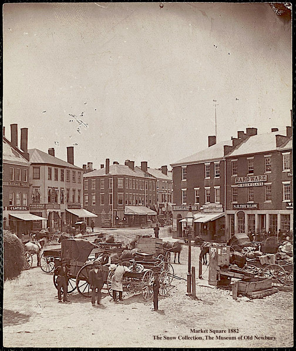 Market Square 1882, The Snow Collection, The Museum of Old Newbury